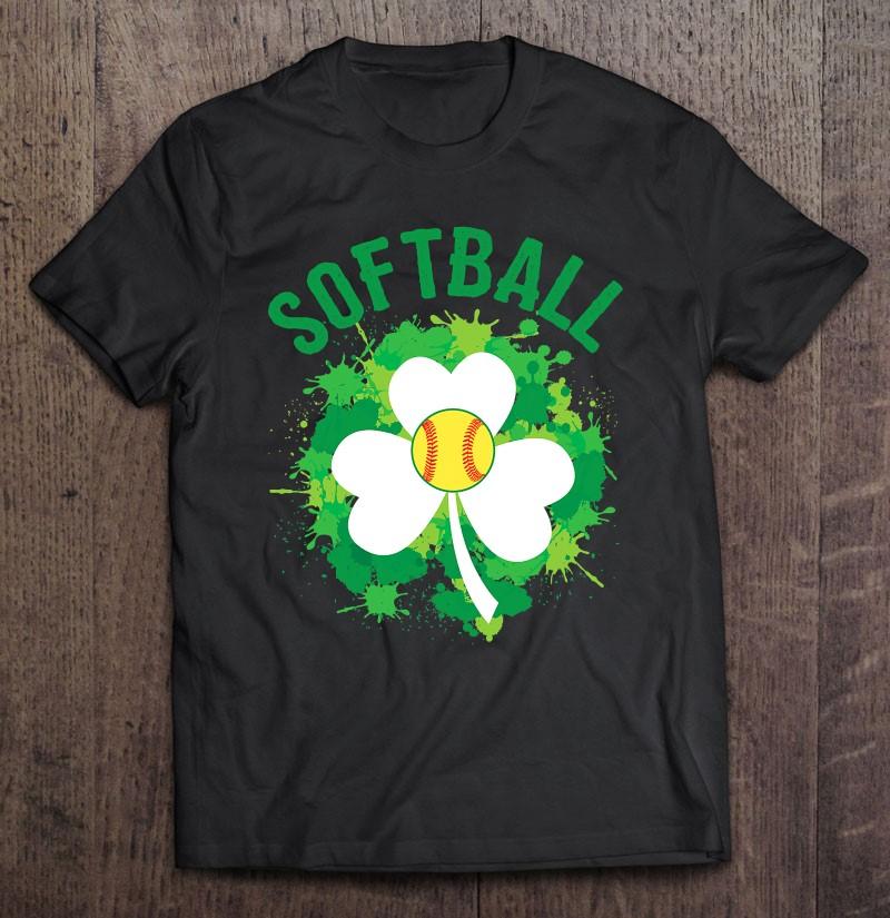 Softball Shamrock Irish Sports St Patty's Day Shirt