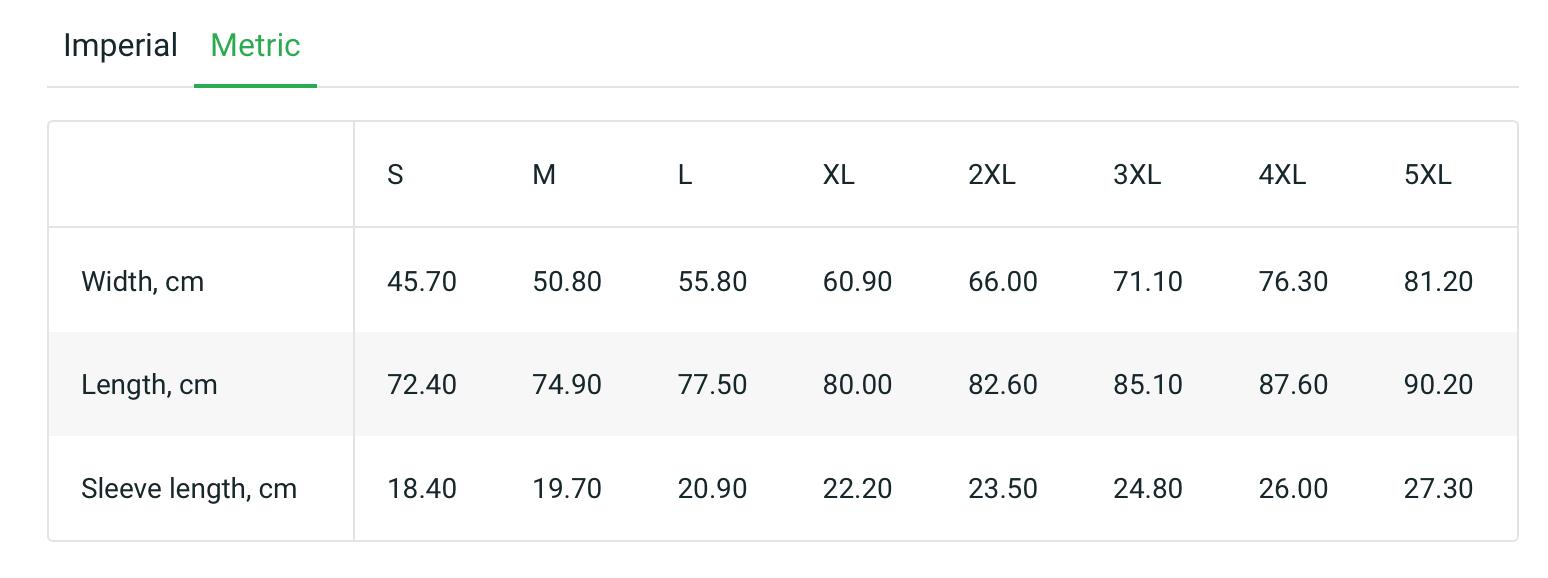 Unisex Tee Metric